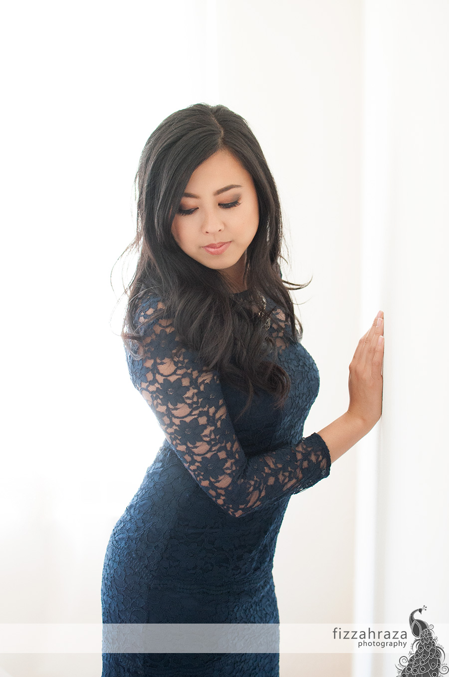 bay area glamour portrait of anna wu art for art blue lace dress