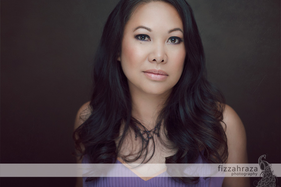 Celebrity style beauty headshot by Nashville portrait photographer, Fizzah Raza